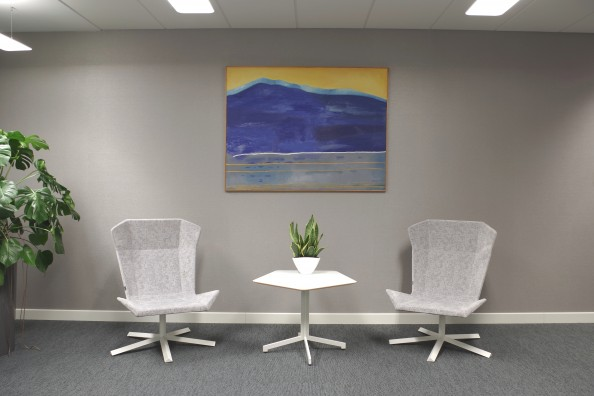 Art in office space, rented work of polish painter Maria Orzecka
