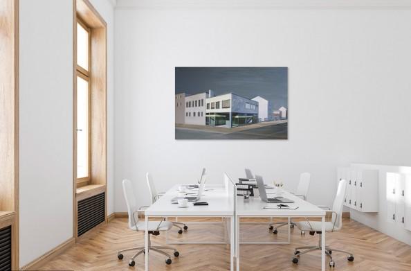 Obraz do biura Marii Kiesner w nowoczesnej, jasnej przestrzeni