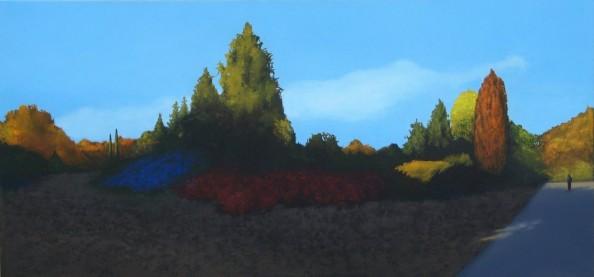 sztuka, malarstwo, olej, park, jesień, powsin, alejka