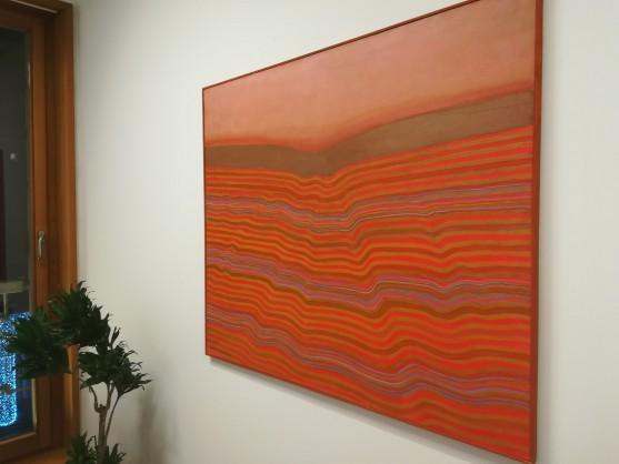 Obraz olejny  w klimacie abstrakcji, warszawskiej malarki Haliny Eysymont