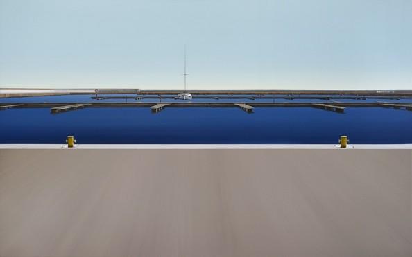 obraz na płótnie, port, woda, horyzont, kołodziejczyk