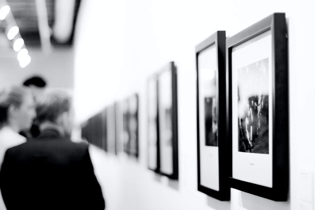 Pomoc w budowie kolekcji obrazów i innych obiektów sztuki, widok galerii