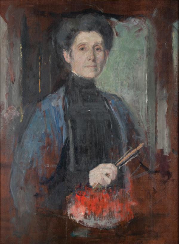 Autoportret Olgi Boznańskiej z kolekcji Krzysztofa Musiała