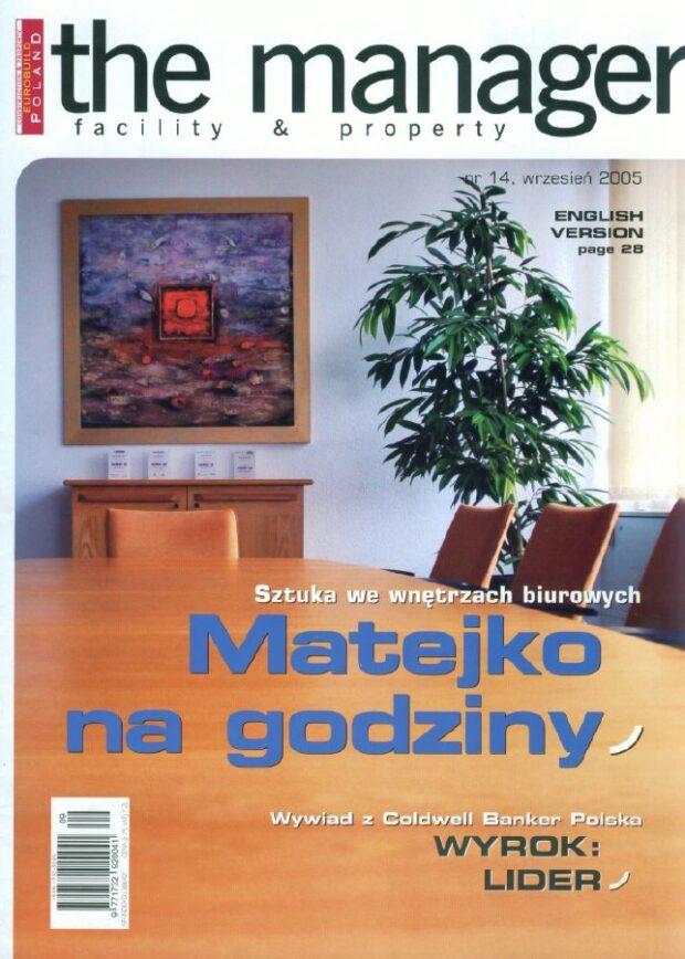 Matejko na godziny_Sztuka we wnętrzach biurowych_The Manager
