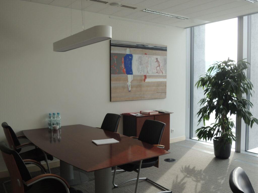 Obraz w biurze, autor Krzyszto Musiał.