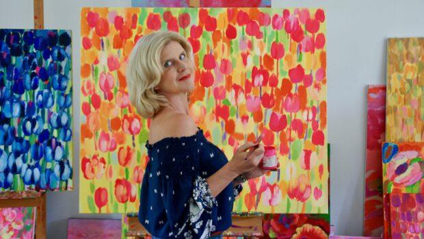 Beata Murawska w swojej pracowni