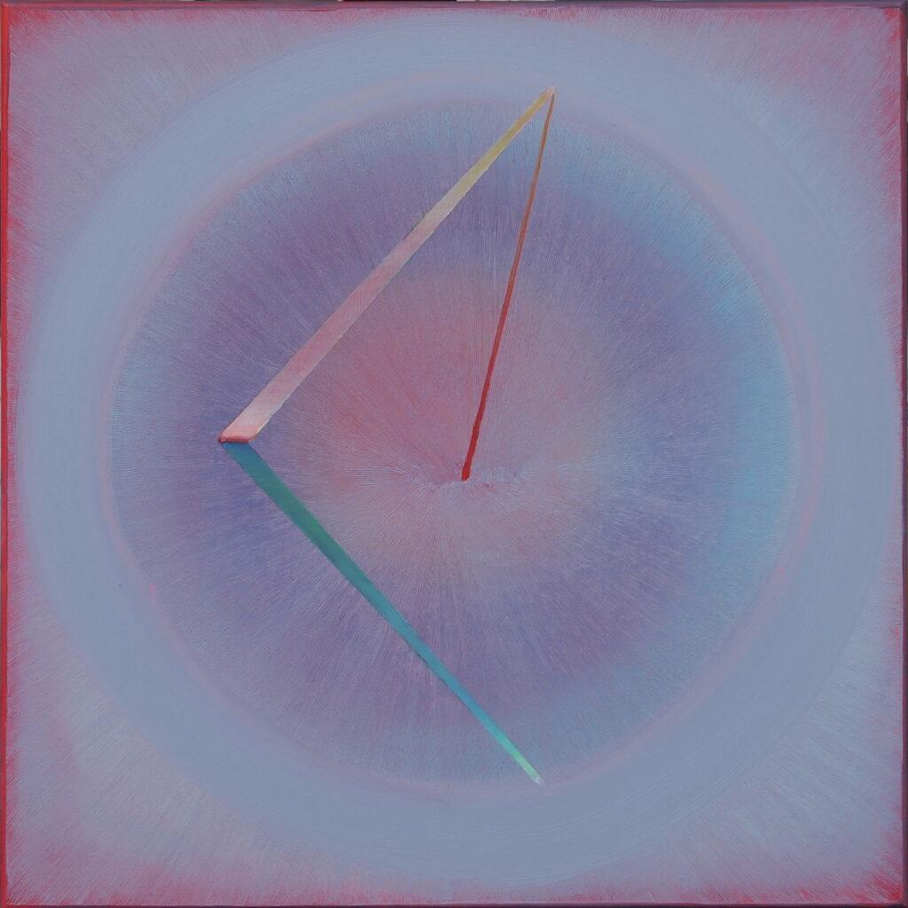 Obraz olejny Anny Trochim przedstawiajacy koło.