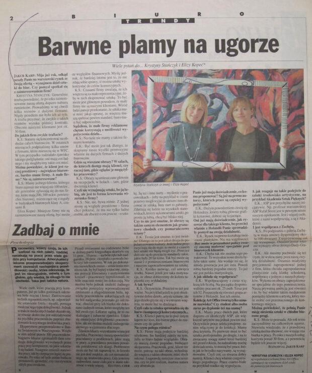 Artykuł o wypożyczaniu dzieł sztuki w Polsce, Gazeta Wyborcza