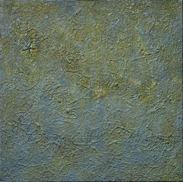 Obraz na płótnie autorstwa Jacka Malinowskiego z kompozycją abstrakcyjną z serii Organika.