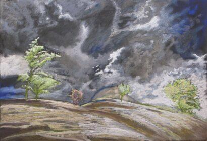 Obraz, pastel autorstwa malarza Pawła Górskiego