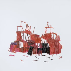 Obraz Magdaleny Dreścik, kompozycja abstrakcyjna, 150x150