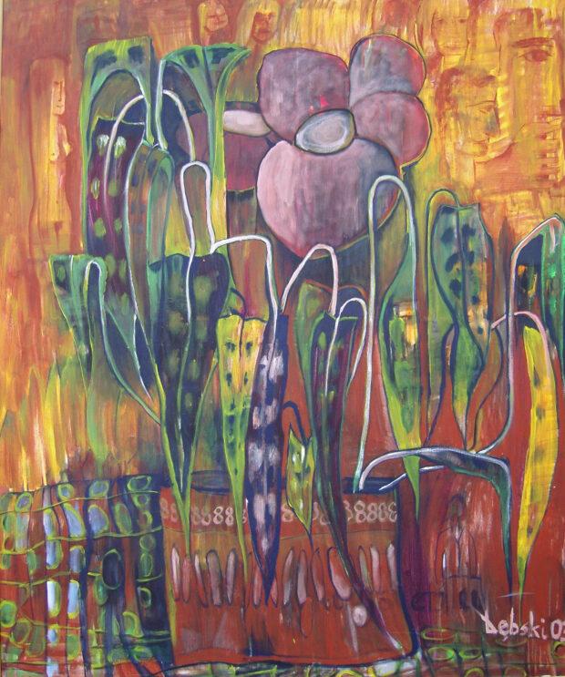 Obraz autorstwa Tadeusza Dębskiego przedstawiający wyobrażenie jesieni