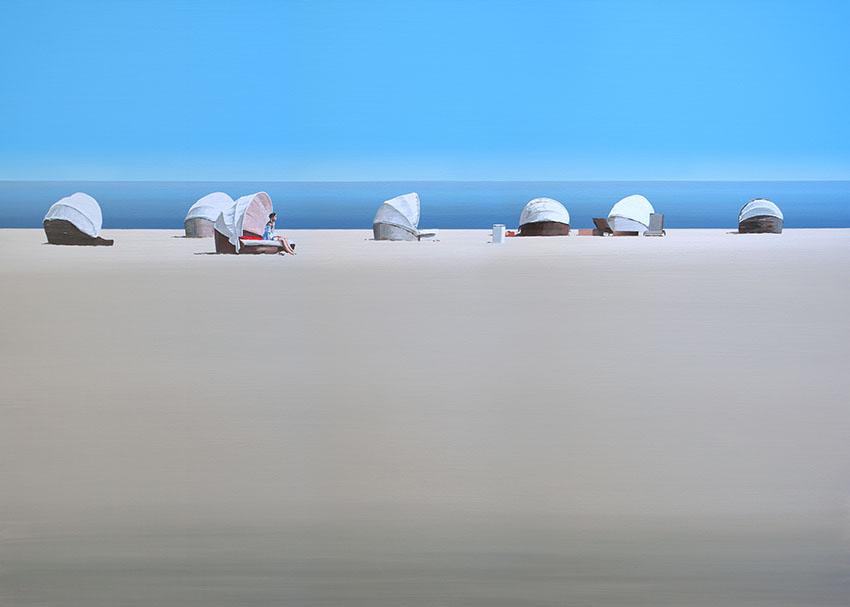 Bałtycka plaża na obrazie Tomasza Kołodziejczyka