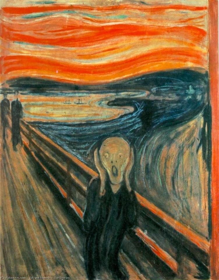 Obraz Krzyk autorstwa Edwarda Muncha, 1893