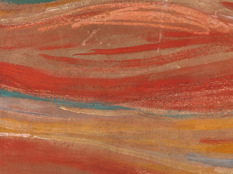 Detal obrazu Krzyk Edwarda Muncha