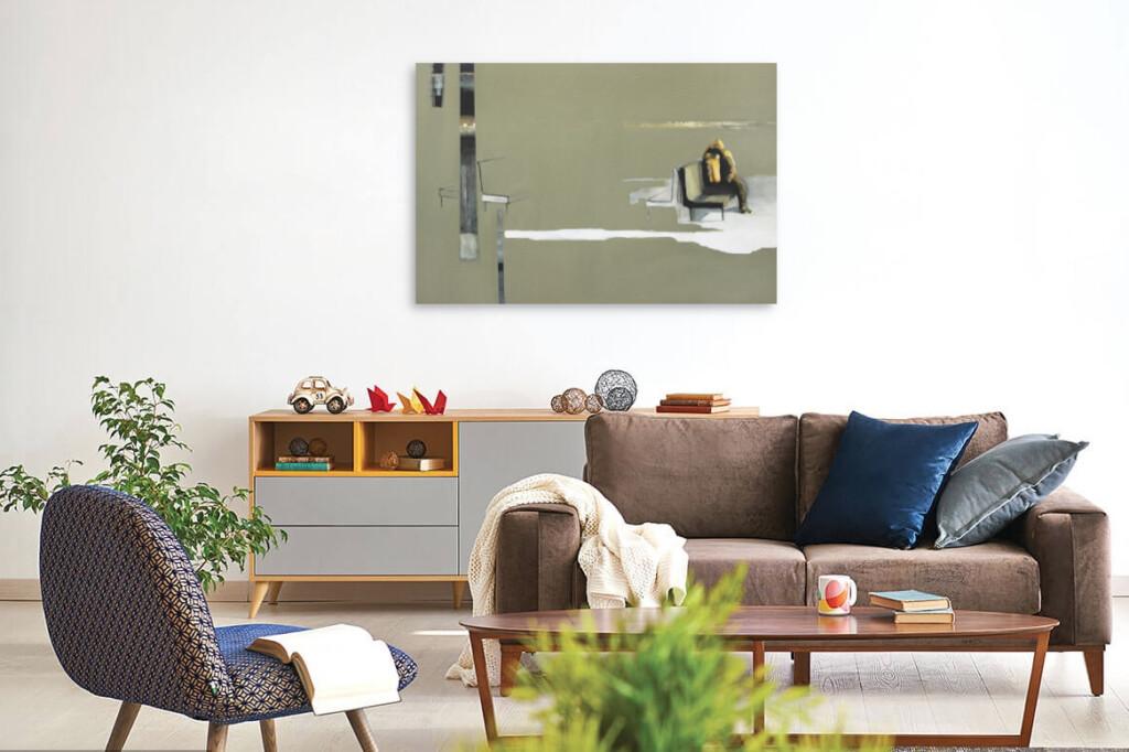 Obraz Krzysztofa Musiała w salonie