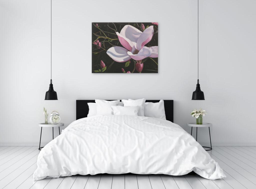 Obraz Magdaleny Laskowskiej w sypialni