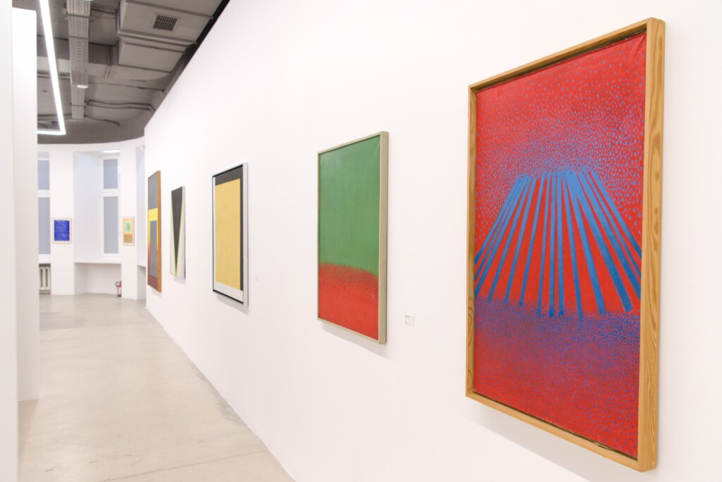 Wystawa Stefana Gierowskiego, widok obrazy