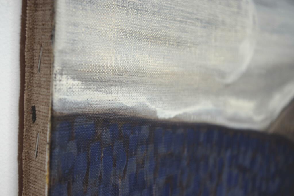 Detal obrazu na płótnie autorstwa Moniki Stolarskiej.