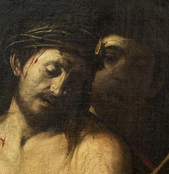 Detal obrazu Caravaggia.