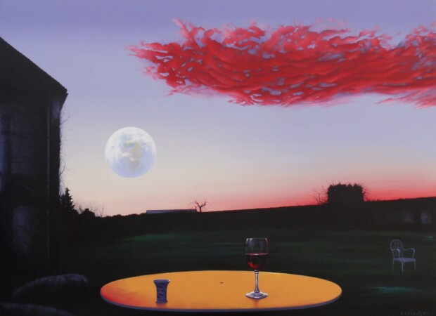 Surrealistyczna wizja autorstwa Henryka Laskowskiego. Jest to obraz powstały w czasie pandemii.