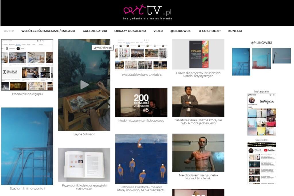 Portal poświęcony sztuce nowoczesnej prowadzony przez artystę Tomasza Pilikowskiego