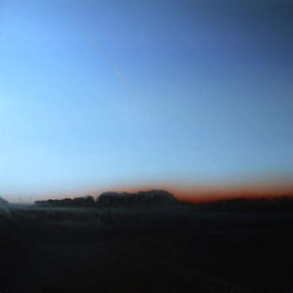 Obraz Urszuli Kałmykow pt. Łąki o świcie, olej na płótno, 140x140