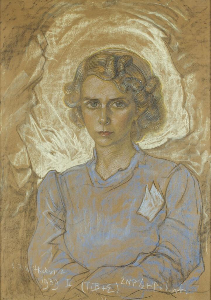 Portret Portret Wandy Janiszowskiej-Groniowskiej autorstwa Witkacego. 1939