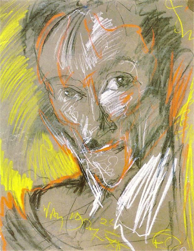 Portret autorstwa Witkacego przedstawiajacego Marcellego Staroniewicza.