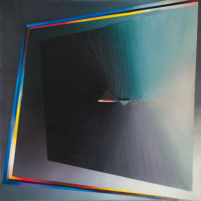 Stonowany nowoczesny obraz abstrakcyjny autorstwa Anny Trochim