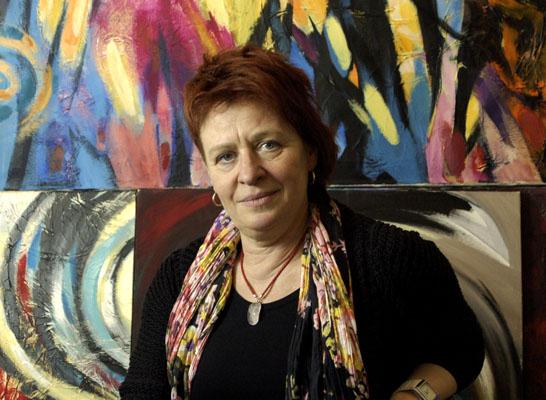 hanjosz, artysta, malarz, abstrakcja, obrazy, olej na płótnie