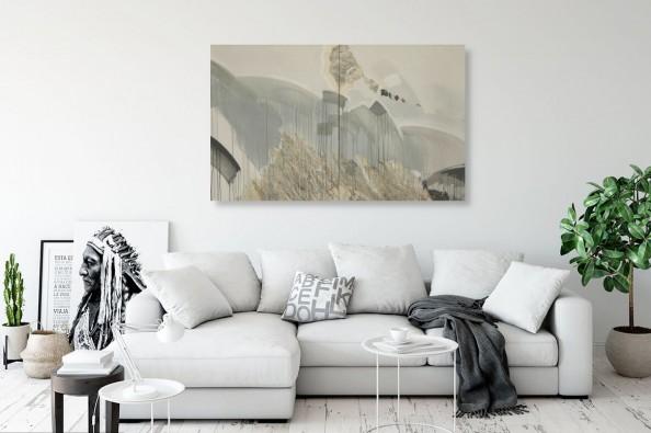 Stonowany obraz abstrakcyjny autorstwa Julii Mygi