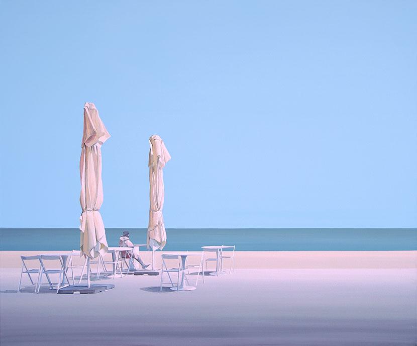 Poranek nad morzem, obraz Tomasza Kołodziejczyka